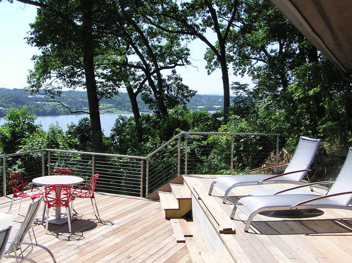 Beckwith group architects modern deck residential for Modern view decking